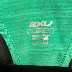 2xu Tops - Green workout tank. 2XU brand size XS